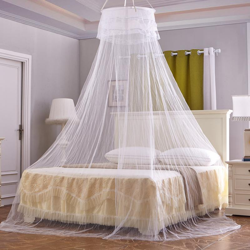 Princess Mosquito Nets Purple White Hung Dome For Summer Polyester Mesh Fabric Home Textile MN06 Pink Single Door Bed Curtain