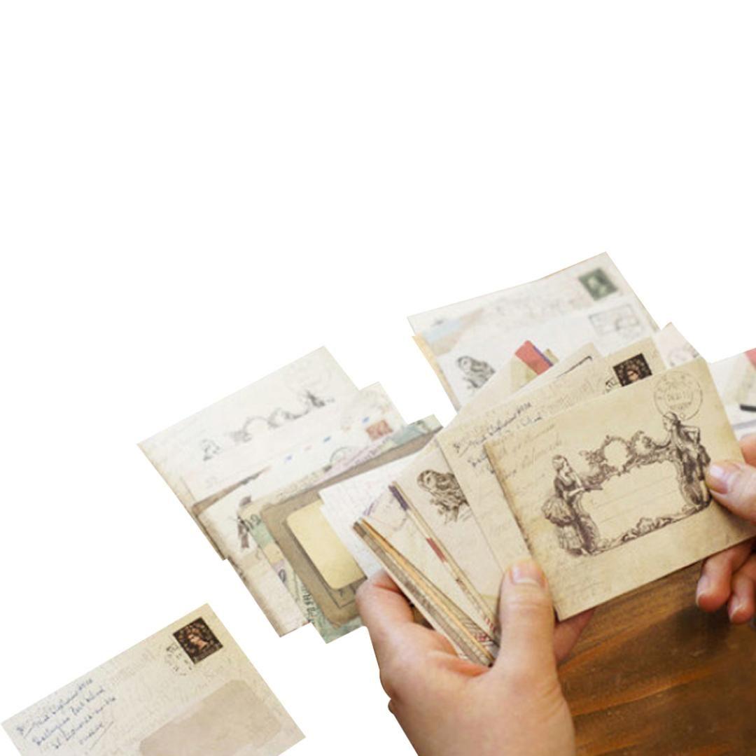 FangNymph Nueva Venta 12 unids / lote 12 Diseños Mini Lindo Antiguo Papel Retro Vintage Estilo Europeo Para Tarjeta de Regalo Scrapbooking