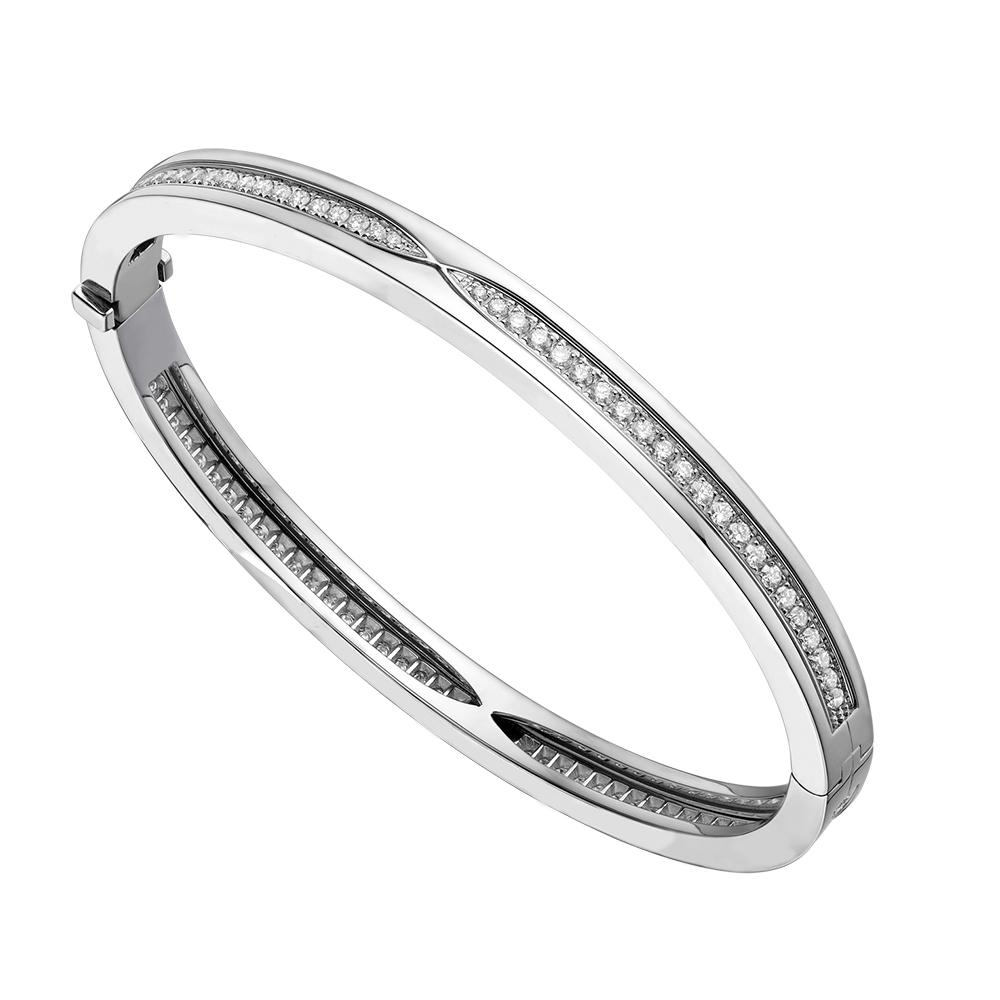 COSEN style classique Bracelet bulgare, Full Diamond Pulseira de diamantes completa Bijoux Femme Cadeau Cadeau d'anniversaire