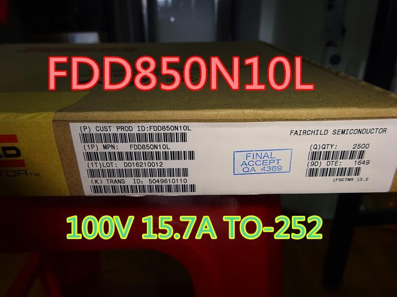 20pcs / lote FDD850N10L 100V 15.7A para 252 Transistor de Efeito de Campo