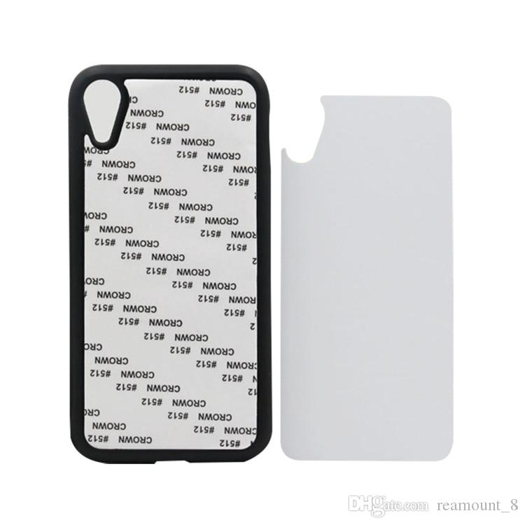 For iPhone XS XS MAX XR 2D Rubber Sublimation Phone Case Blank TPU+PC Mobile Phone Cover