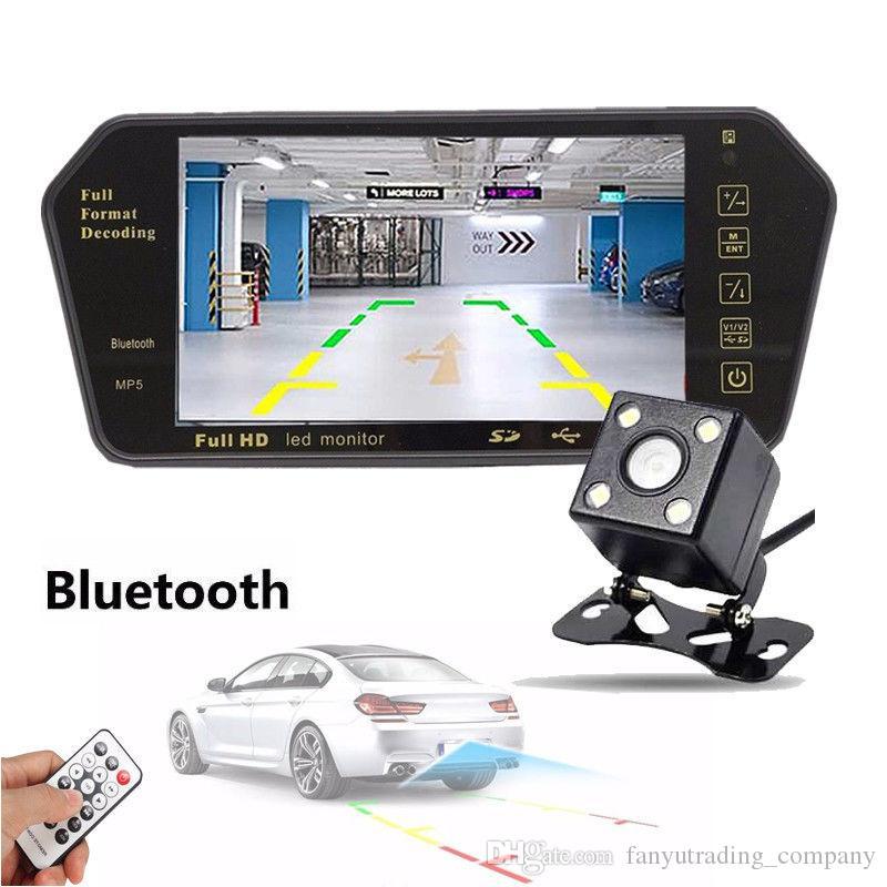 7 인치 LCD 미러 모니터 + 무선 자동차 후면보기 백업 카메라 DVR 캠 나이트 비전 자동차 DVR 무료 배송