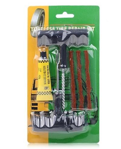 Fabrik-Preis 1Set / 6Pcs Auto-Fahrrad-Auto Tubeless-Reifen-Reparatur-Kit Puncture Tubeless Gummireifen-Stecker-Reparatur-Werkzeug Reifen Plug-Repair Tool Kit