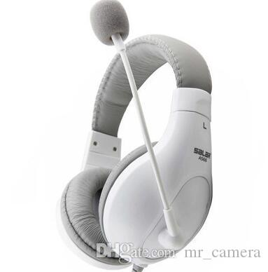 Headphones desktop computers games headphones bass Earphones full-sized Wired White black