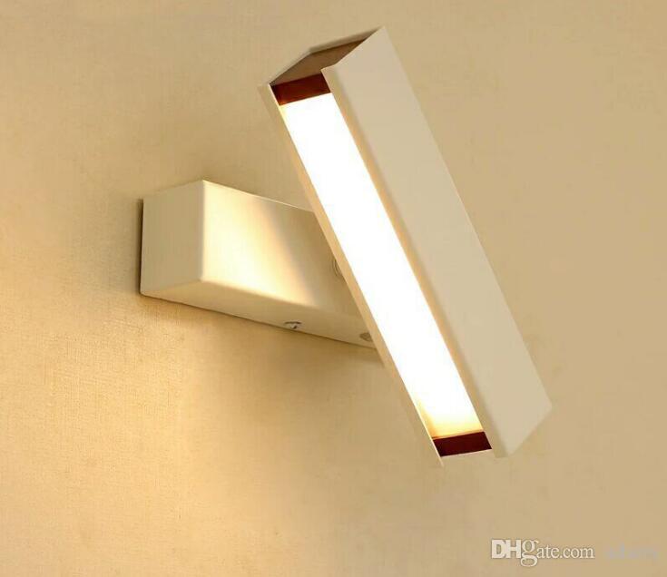 220 فولت أدى الجدار مصباح غرفة نوم الإبداعية نوم السرير الممر الجدار مصباح القراءة سجل الدورية جدار الضوء