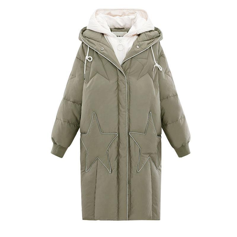 Winter Frauen Daunenjacke weiblichen Mantel dicke warme lange Abschnitt Daunenmantel weibliche Oberbekleidung Mode mit Kapuze Winter Frauen Jacke