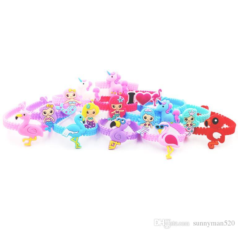 Hot Fashion Cute Multicolor Different Shapes PVC Bracelet Wristband Bangle Birthday Party Home Jewelry Gift Free Shipping