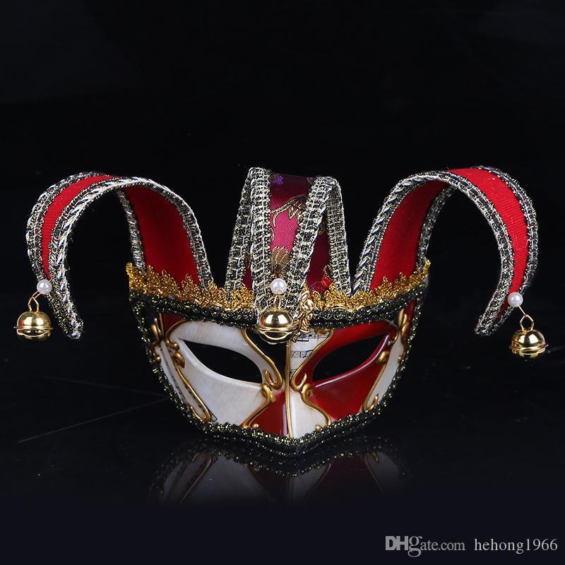 Mode En Plastique Vénitien Mascarade Masque Pour Halloween Clown Demi-Visage Masques Resuable Exquise Partie Fournitures Haute Qualité 30wp BB