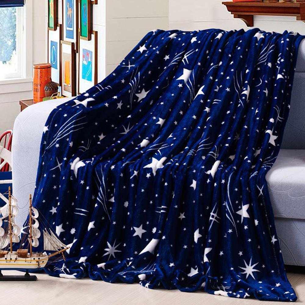 Wondrous Bright Stars Bedspread Blanket Stars Galaxy Blanket Blue Flannel Fleece Plaid Sofa Throws Winter Bedsheet Gray And White Throw Blanket Price Of Uwap Interior Chair Design Uwaporg