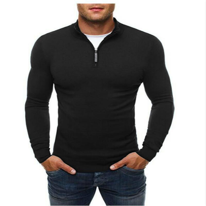 мужчины молния slim fit свитера пуловер случайные свитер с длинным рукавом вязаный свитер теплый мужская одежда