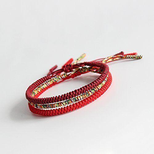 هذا العام عقدة الماس المنسوجة يدويا للرجال والنساء أزياء بسيطة سوار حبل أحمر