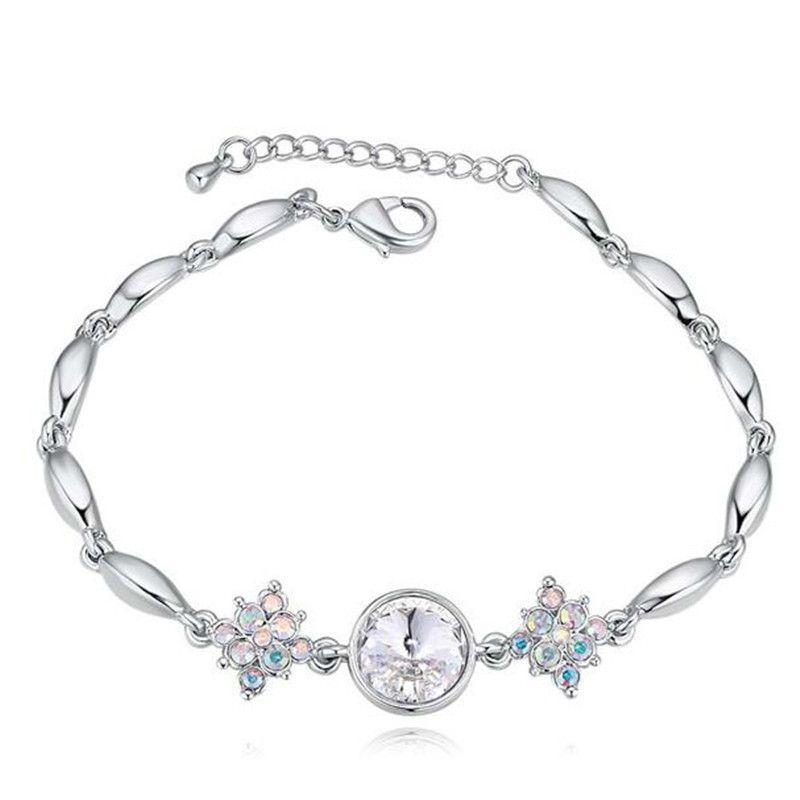Cristal de Swarovski Elements Charm Bracelets Joyería de moda de boda Accesorios para mujer Oro blanco plateado 23239