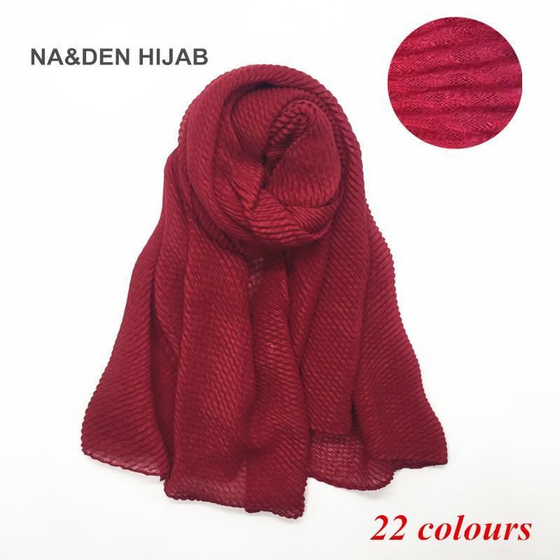 Soft fashion ripple 21colors fold solid color shawls viscose cotton Muslim hijab woman scarves pashmina viscose scarf 10pcs/lot S1020