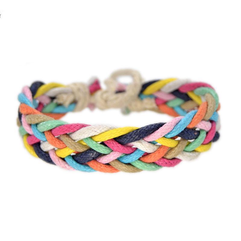 Cotton colorful bracelets original handmade jewelry DIY #EZ120