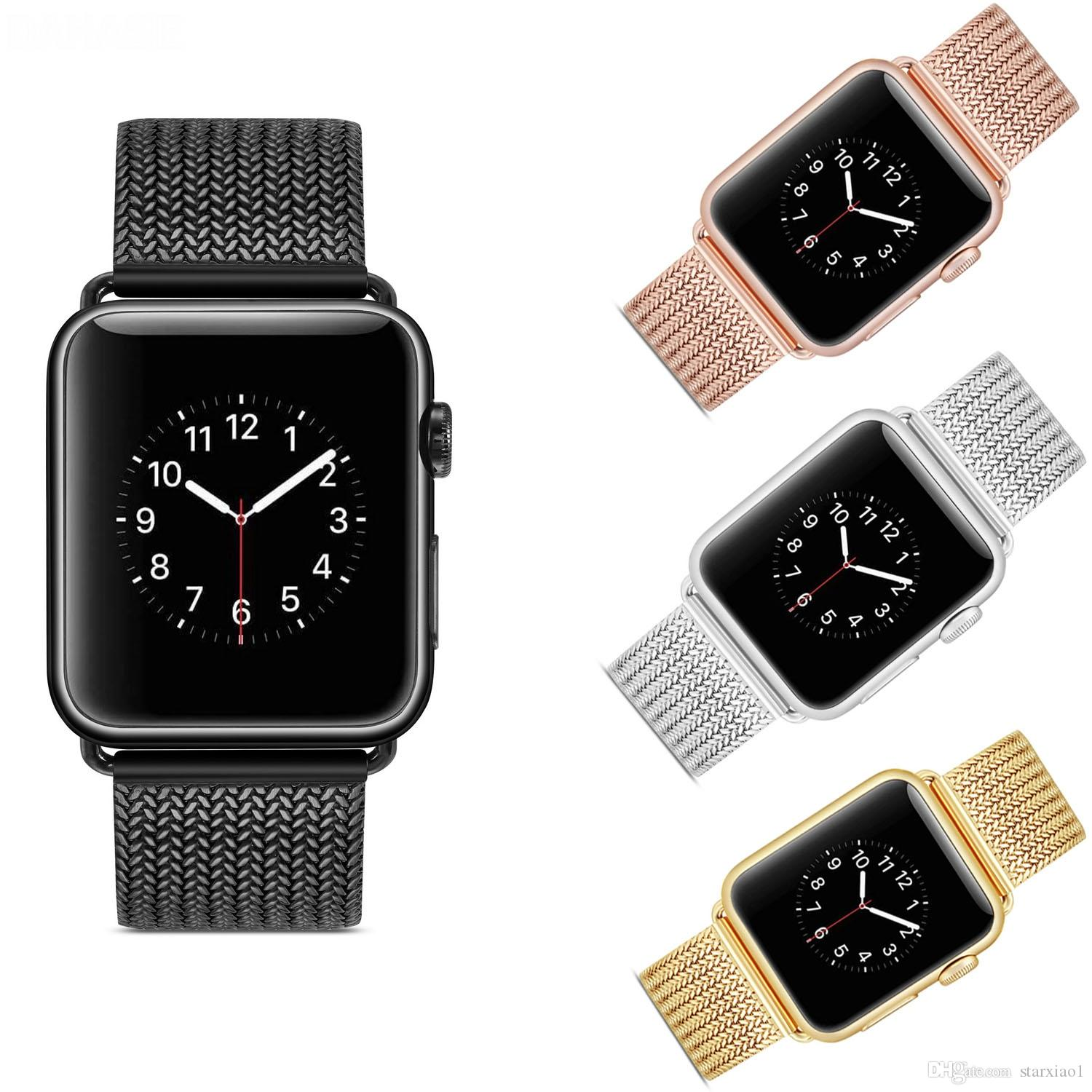 Luxury Milanese Loop For Apple Watch Series 4 3 2 Replacement Bracelet Band  Iwatch 40/44mm 38/42mm Stainless Steel Strap Buckle Connector Watch With  Leather Strap Wrist Watch Straps From Starxiao1, $11.46| DHgate.Com