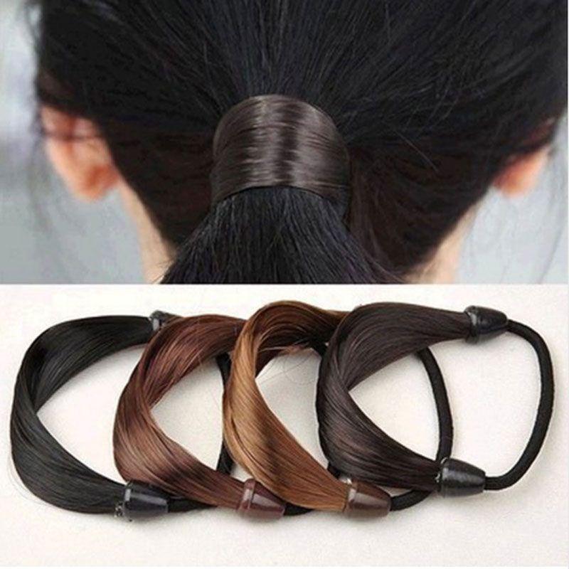 Kreis Perücke Modeling Elastische Haarbänder Scrunchy Haarschmuck für Frauen Präfekt Gummibänder Headwear für Mädchen