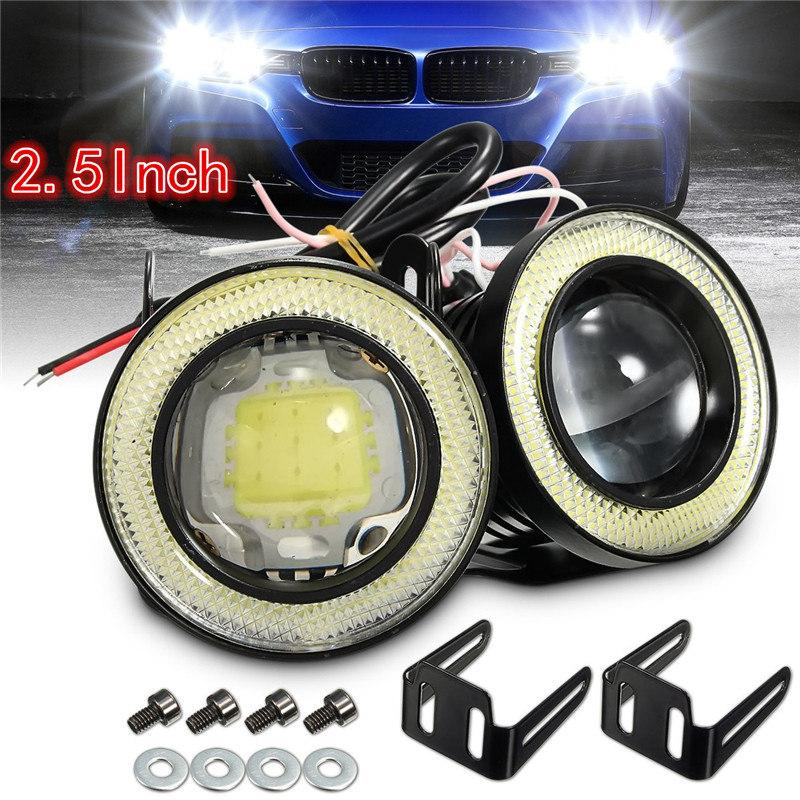 "Universal Green 2.5/"" Projector COB LED Car Fog Light Halo Angel Eyes Rings DRL"