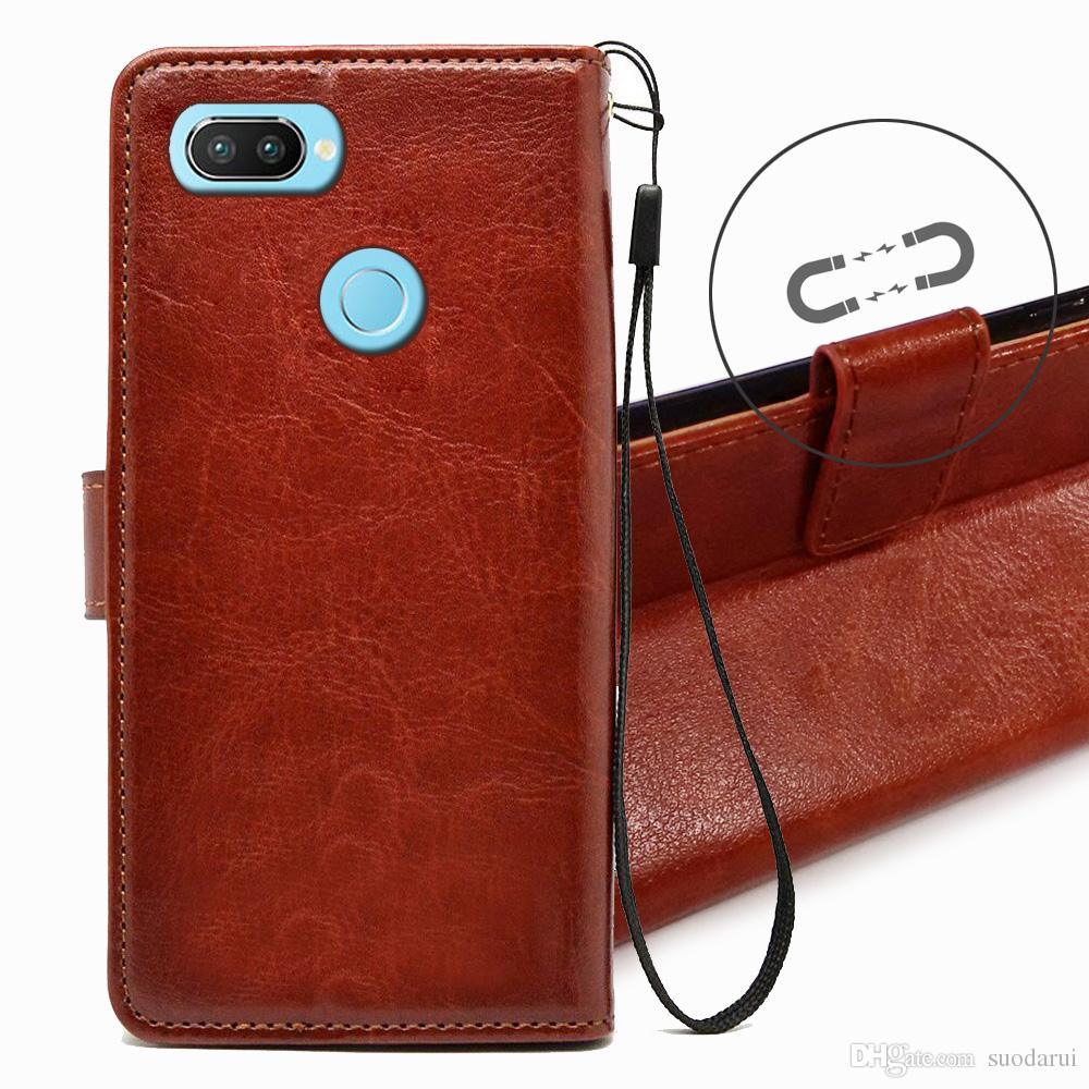 best cheap 930ae 2b85d Flip Leather Case For OPPO Realme 2 Pro TPU + PU Leather Magnetic Book  Wallet Cover Pouch With Lanyard Phone Case Custom Phone Cases From  Suodarui, ...