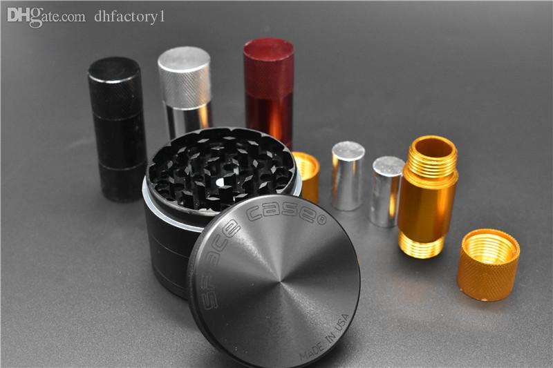 smerigliatrice di metallo 4 parti 63 millimetri smerigliatrice di spazio con polline premere Pollen Compresor dispositivo di pressione di fumo con smerigliatrice di fumo di tabacco