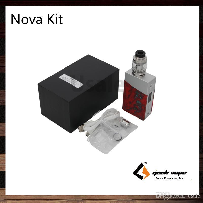 Geekvape Nova Kit z 5.5ml Cerberus Tank 200W Nova Mod zaawansowany jako żywica chipowa aluminiowa konstrukcja 100% oryginału