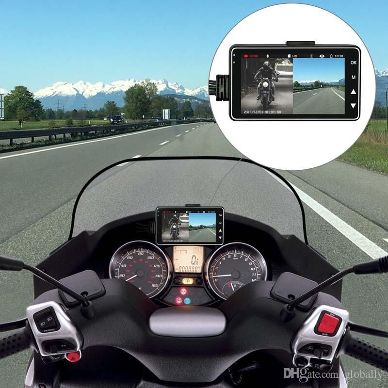 3 بوصة شاشة LCD مسجل فيديو دراجة نارية القيادة مسجل سيارة دائمة DVR تاكوغراف HD الوضوح السيارات