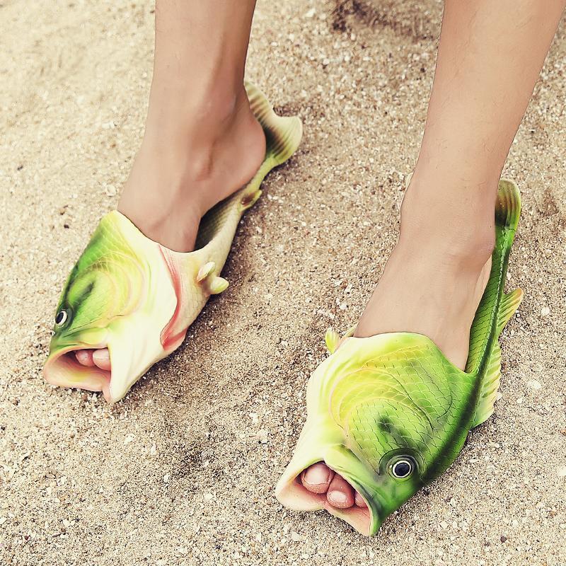 Creative Fish Slippers Man Handmade