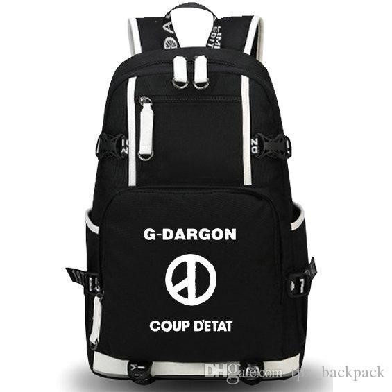G Dragon backpack Coup d epat day pack البوب ستار حقيبة مدرسية أوقات الفراغ packsack الجودة حقيبة الظهر الرياضة المدرسية daypack في الهواء الطلق