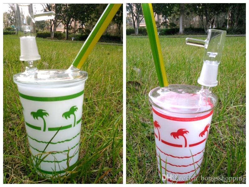 classes Bongo HitMan Cup com percolator Original Opaque dab verde brilhante concentrado bongo de vidro bongo de vidro Hookah glass bubber water pipe