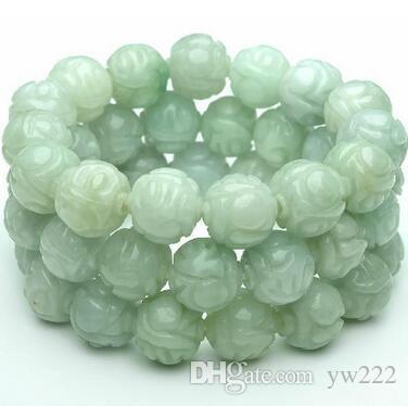 Un cargamento de cuentas de jade natural, brazalete de jade, modelos masculinos y femeninos, Lotus Pearl sub 13mm, cuentas de jade Burma con un certificado.