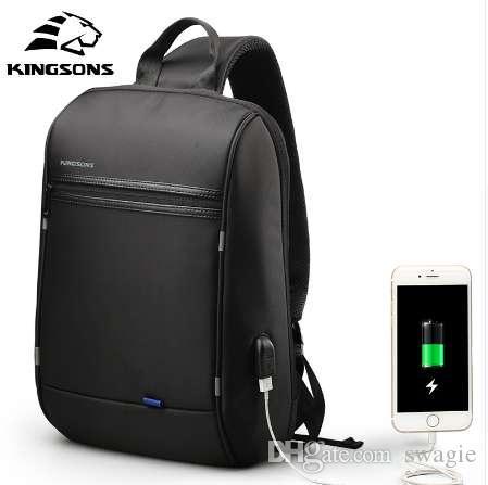 Kingsons 13.3 pouces Anti-vol USB Charge Messenger Chest Bag Wateproof Seule Épaule Ordinateur Portable Sac À Dos pour Hommes Femmes