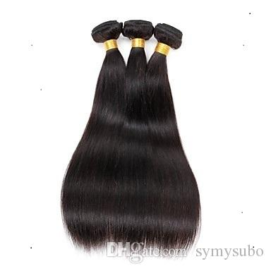 Store discount Malaysian Virgin Straight Hair Extension 100% Human Remy Hair Weaving 6a Unprocessed Double Weft Hair Extensions