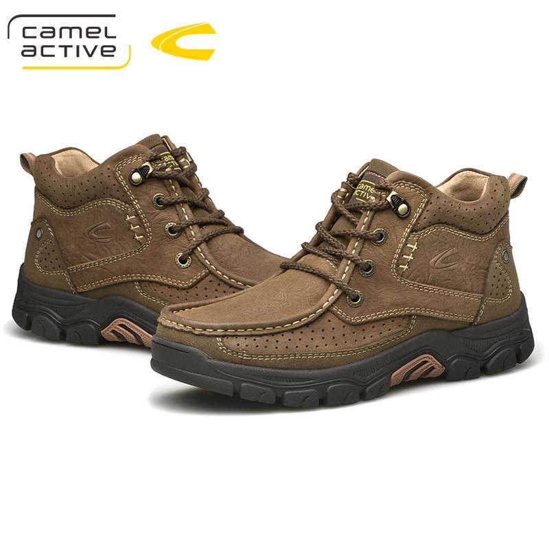Compre Camel Active New Men Zapatos Impermeables Para Hombre Botas Para La Nieve Zapatillas De Deporte De Cuero De Vaca Al Aire Libre Profesionales Al