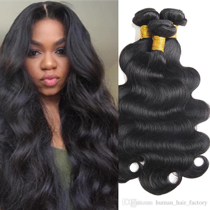 Cheap Mink Brazilian Human Hair 3 Bundles Body Wave Hair Weaves 100% Unprocessed Peruvian Human Hair Bundles Extensions Wholesale