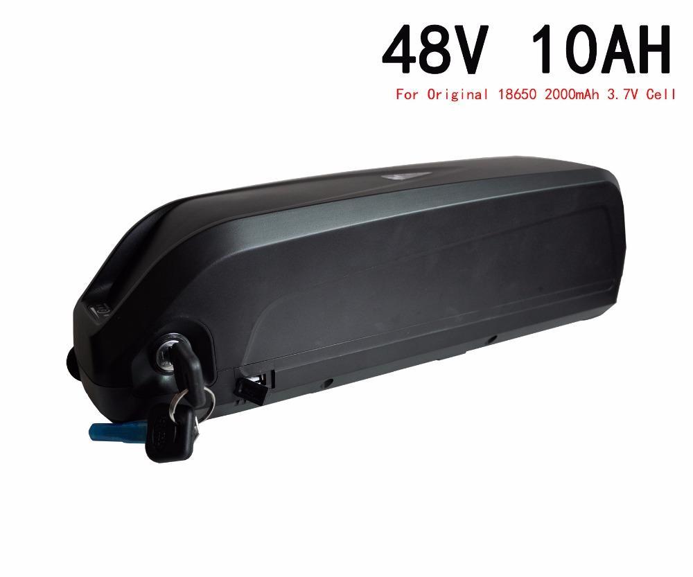 48V10Ah bicicleta elétrica bateria de lítio usando o original 18650 2000 mah bateria, para Bafang BBS02 800 W motor, frete Grátis