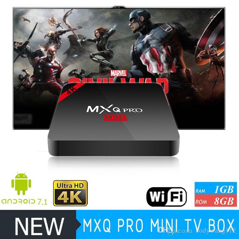 MXQ PRO MINI Android 8.1 TV Box Amlogic S905W WiFi Build 1gb 8GB MXQ PRO 4K Media Player