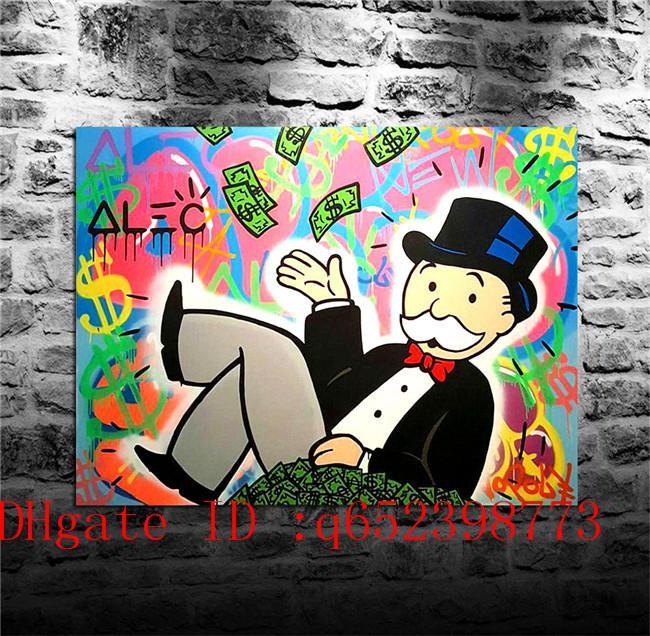 Alec Monopoly -77, décor à la maison HD imprimée art moderne peinture sur toile (sans cadre / encadrée)