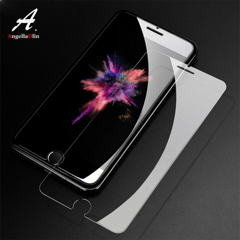 Thin 9H tempered glass For iphone 4 4s 5 5s 5c SE 6 6s plus 7 7plus 8 X screen protector guard film case Cover Mobile Phone Bag