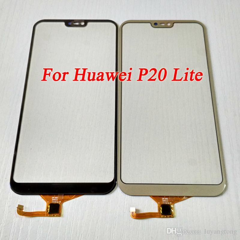 Hot Pour Huawei P20 Lite Lentille En Verre Externe avec Numériseur Pièces De Rechange Pour Huawei P20 Lite Écran Tactile Avant En Verre Avec Outils