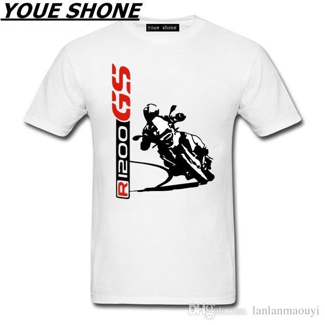 Magliette da uomo R1200 GS TShirt Fashion New Top Tee Magliette personalizzate 1200 GS T-SHIRT Motociclette Motorrad 100% Cotone Magliette Tees