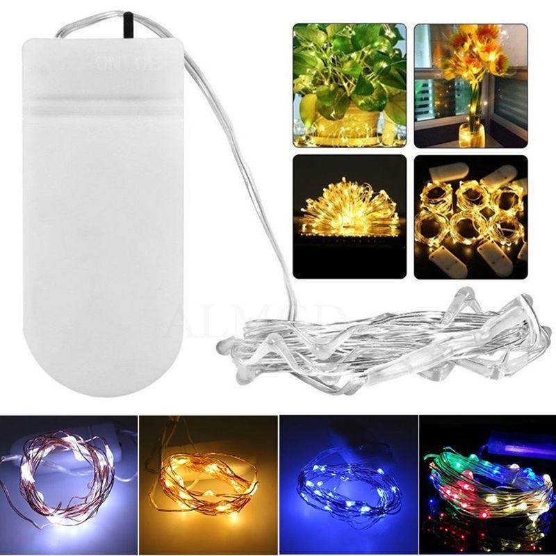 Umlight1688 2018 Weihnachten CR2032 Knopf Batteriebetriebene 2 Mt 20LED Micro LED String Licht Wasserdichte Led Fairy Light Streifen Für Party