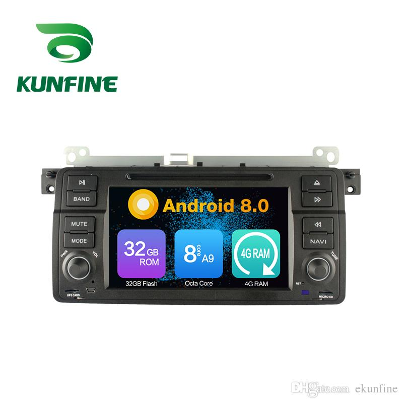 Octa Core 4GB RAM Android 8.0 Car DVD GPS Navigation Multimedia Player Car Stereo for BMW 3 Series:1998 to 2001-E46 Radio Headuint Wifi