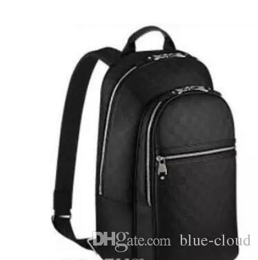 sıcak satış kaliteli pu deri sırt çantası damierr grafit tuval sırt çantaları Çanta N58024 adamın çantası okul çantası çanta