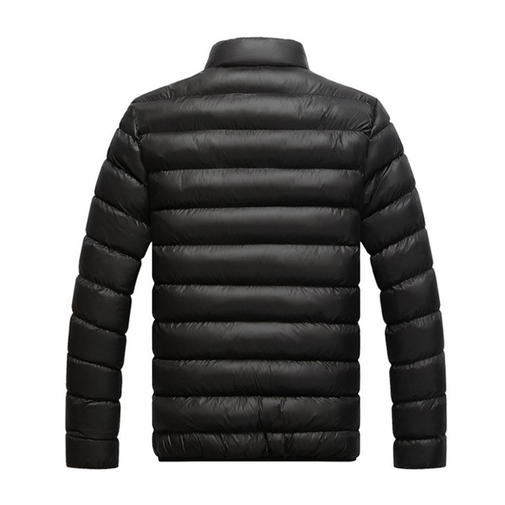 Giacca invernale addensata da uomo in cotone parka slim fit con imbottitura calda soprabito colletto in piedi maschile windbreaker outwear abiti maschili c2