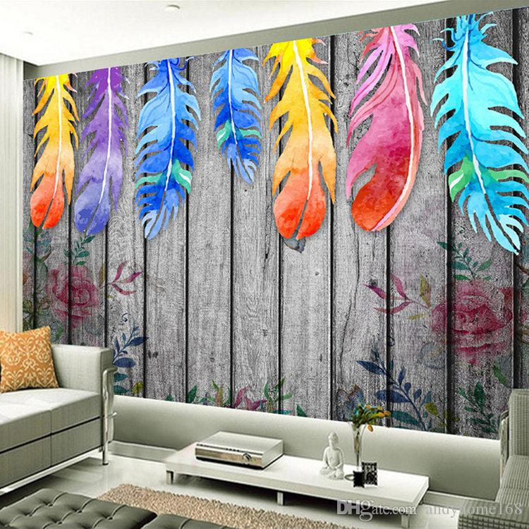 Custom Any Size 3d Wall Murals Wallpaper Modern Hand Painted Wood