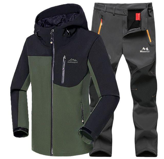 Pantalon De Ski De Randonnée En Plein Air Pour Hommes Coupe-Vent En Polaire