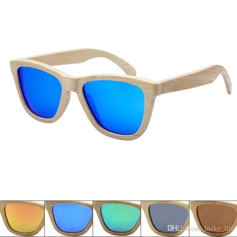 5 adet Retro Erkekler Kadınlar Polarize Güneş Gözlüğü Ahşap Bambu El Yapımı Güneş gözlükleri Plaj Ahşap Gözlük ulculos de sol