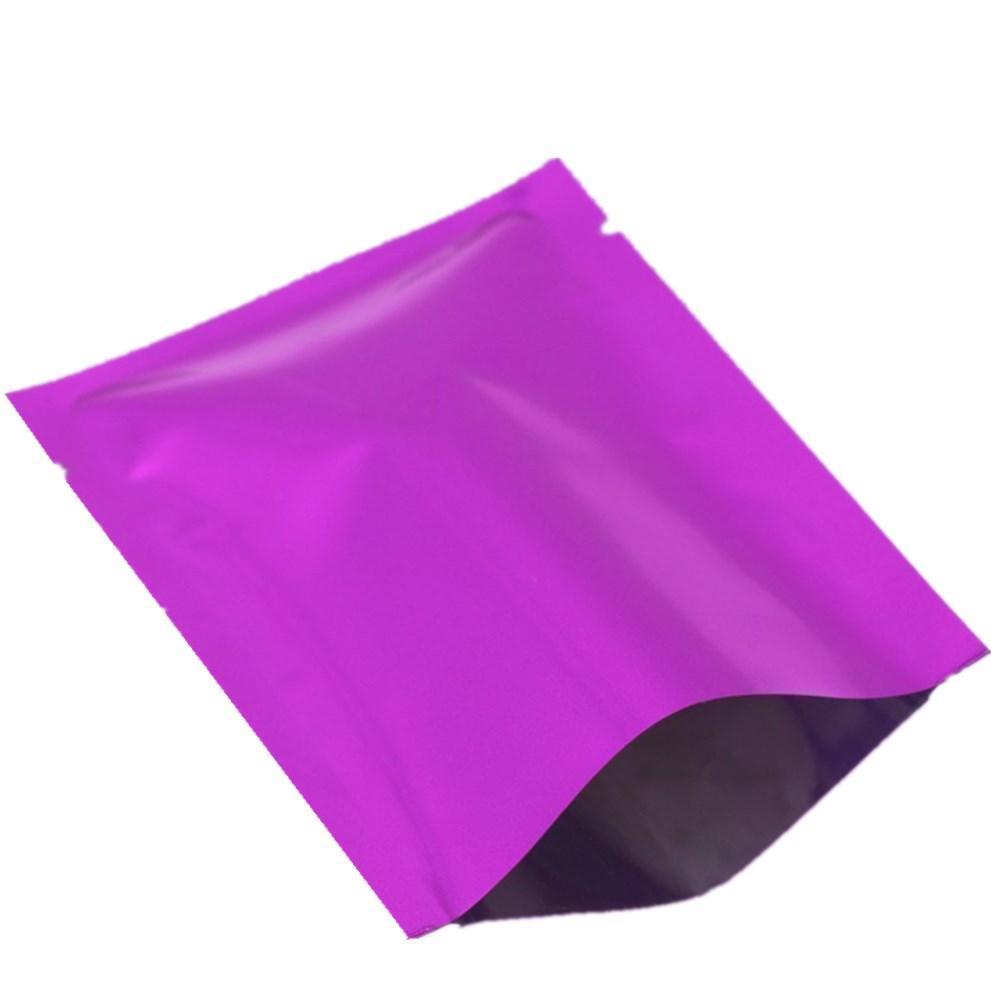 100 шт. 9x13 см Фиолетовый Алюминиевая Фольга Термоупаковка Упаковка Пакеты Мешки с Открытым Верхом Вакуумная Фольга Вакуумная Термоусадочная Упаковка Пакет для Образца Пищевых Сумок