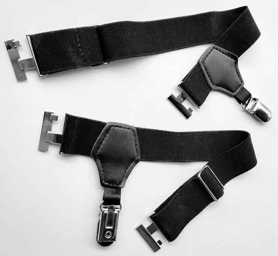 2Pcs Sock Garters Adjustable Single Duck-Mouth Clip Sock Suspenders Men Black