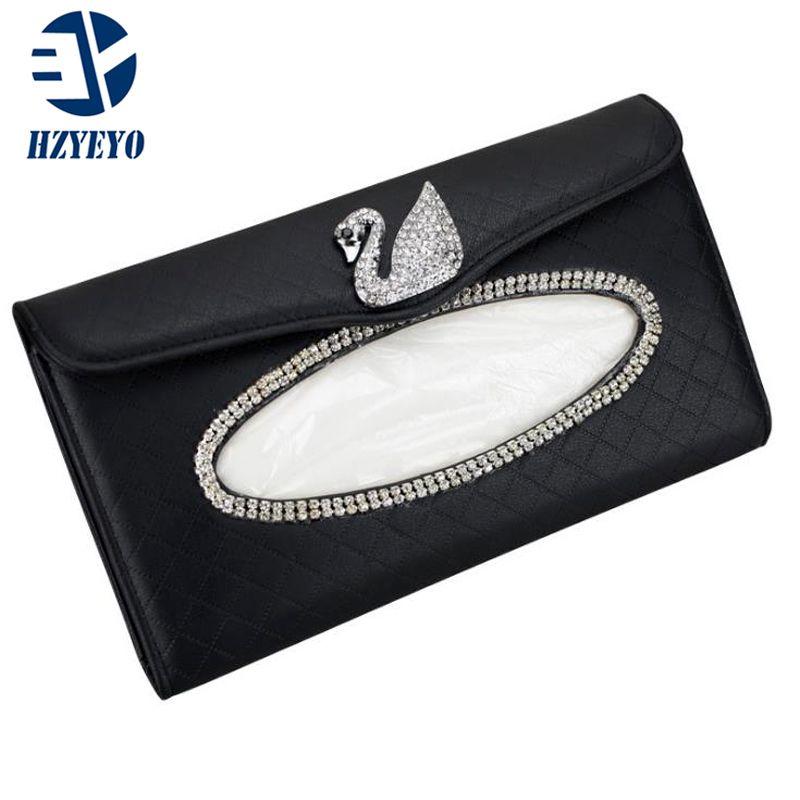 Ткань автомобиль Стайлинг автомобиля Box творчество Camellia Diamante окно автомобиль Зонт ткань коробка Мода Авто аксессуары