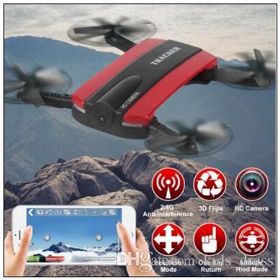 Nuovo controllo telefono JXD523 Tracker Mini RC pieghevole Selfie Drone con Wifi FPV 720P HD Camera Altitude Hold modalità senza testa CCA8708 10pcs